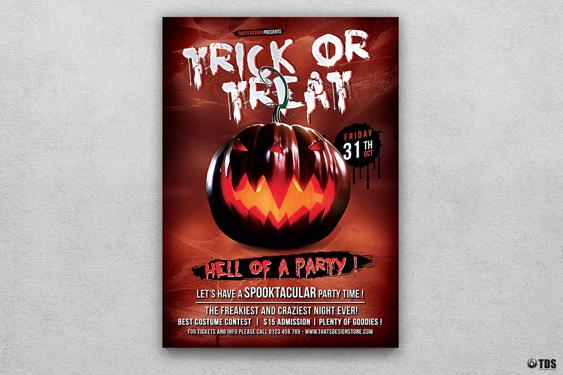halloween flyer template v6 by tdstore design bundles