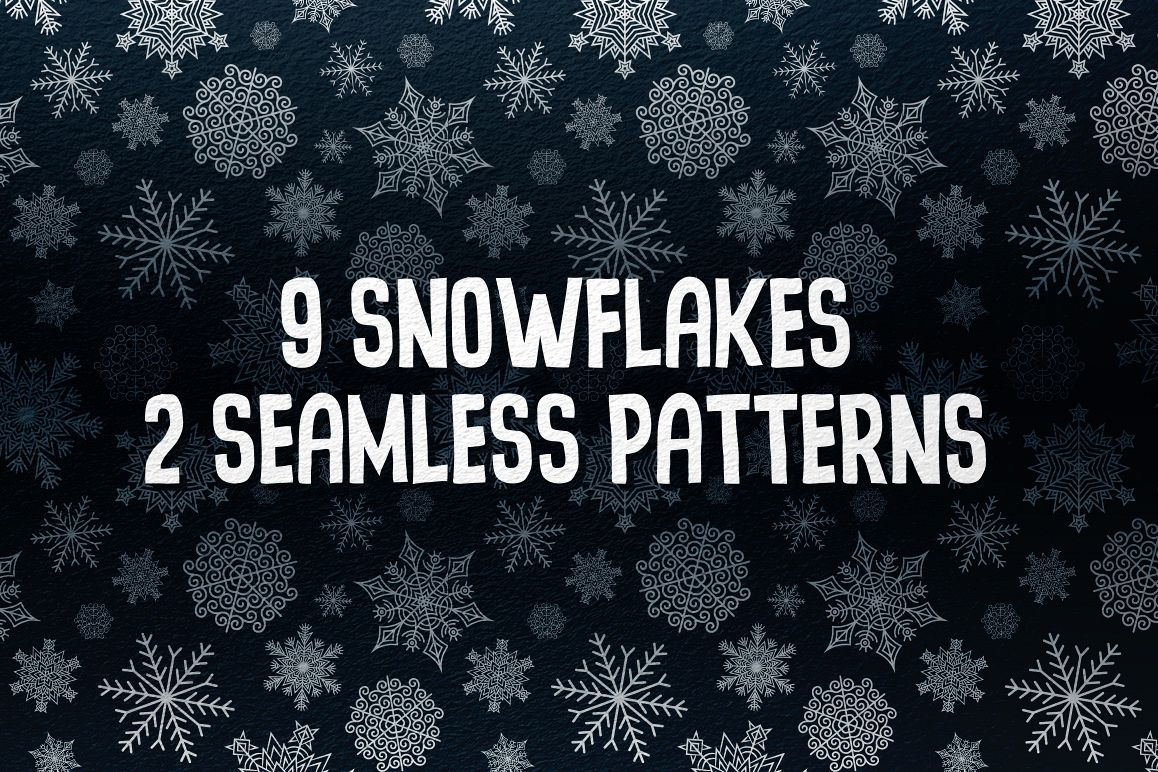 9 Snowflakes example image