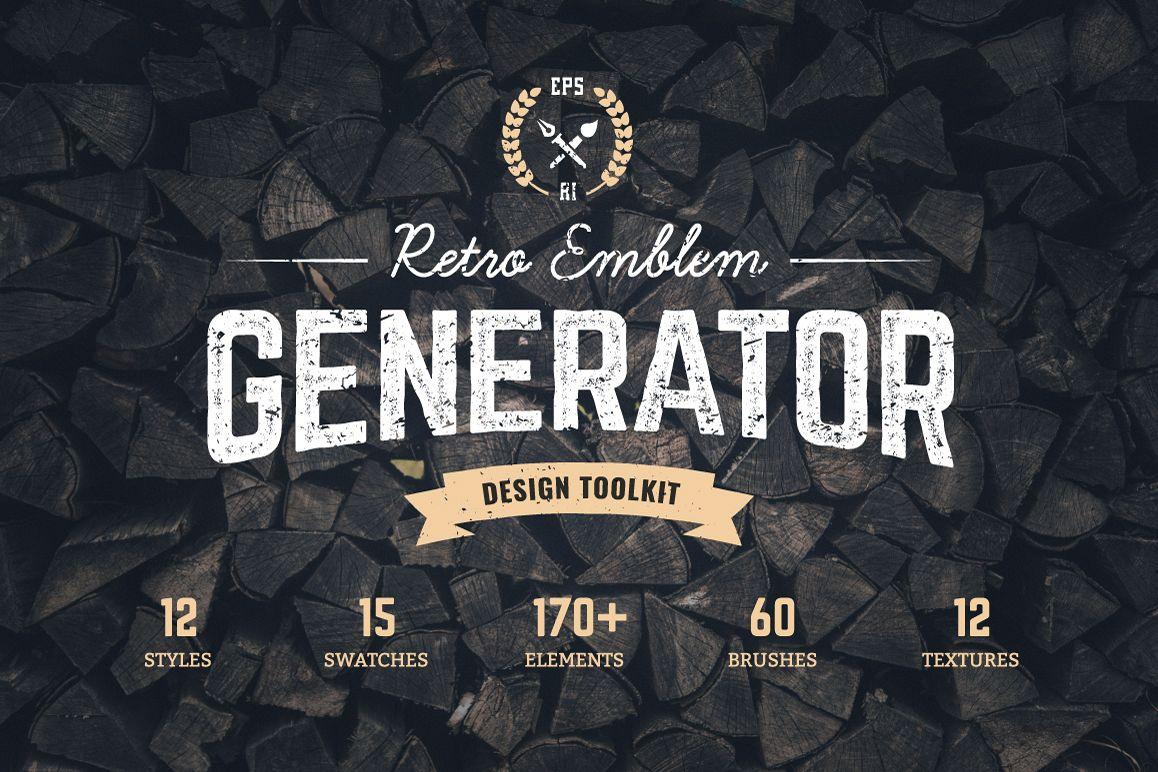 Logo Maker | Retro Emblem Generator example image