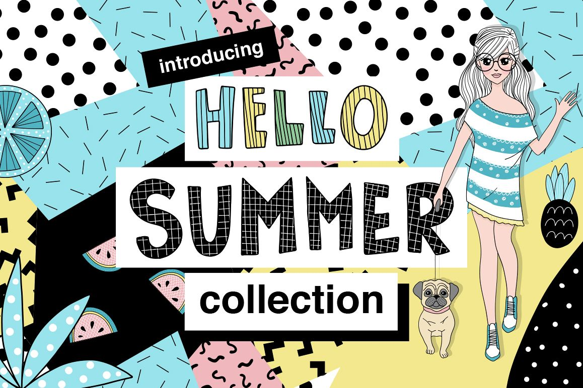 Hello Summer - Doodle Collection example image