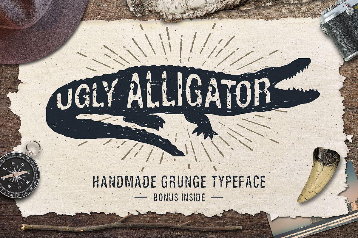 Ugly Alligator - Grunge Typeface example image