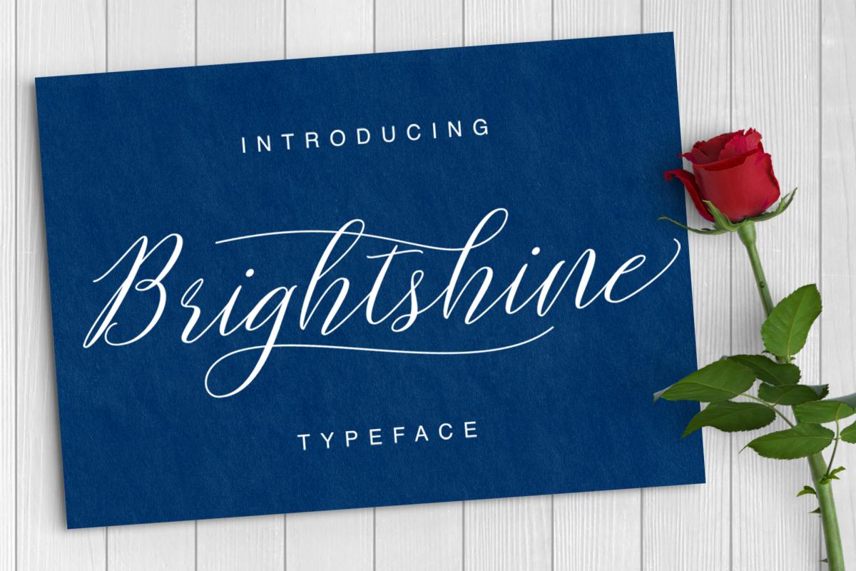 Brightshine Typeface example image