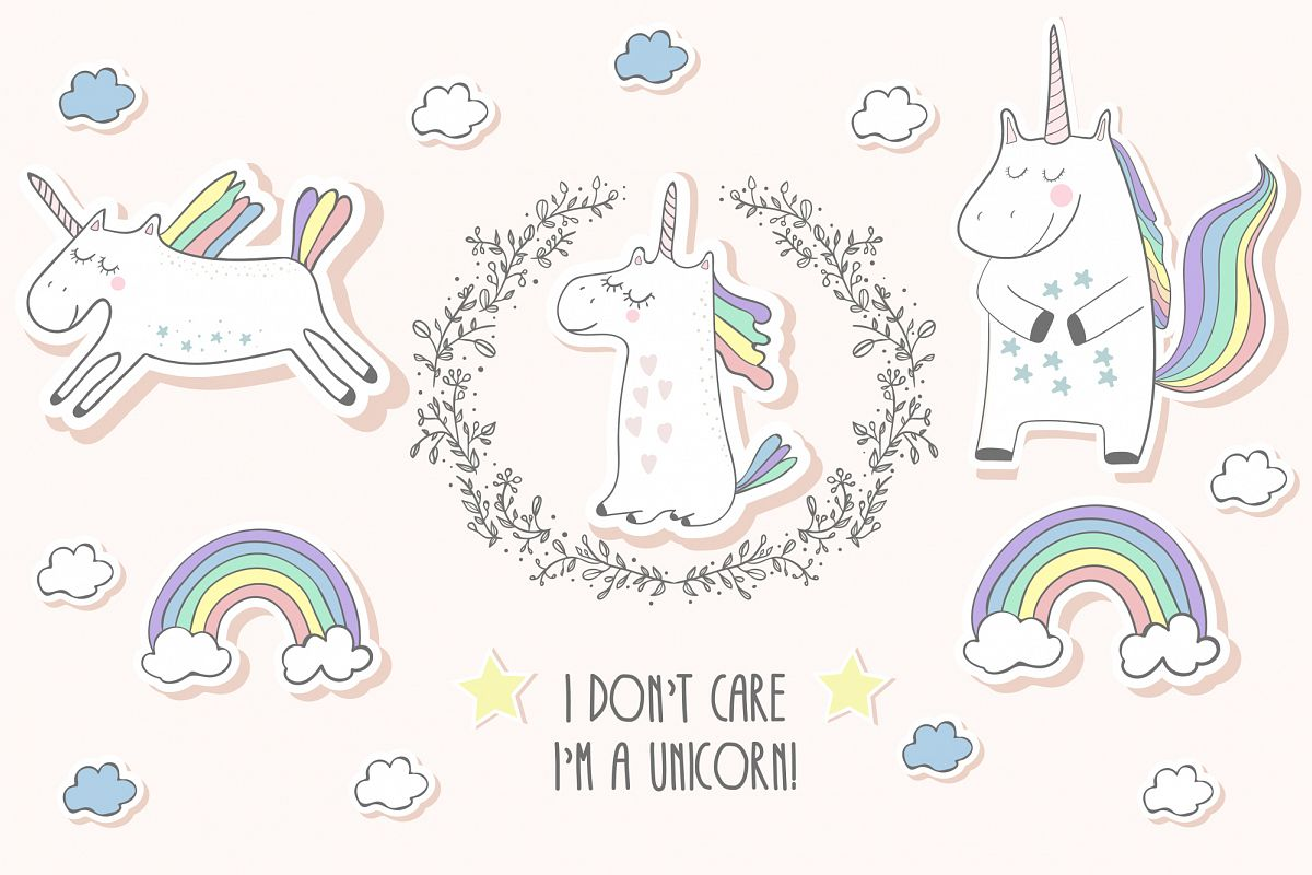 Unicorns set example image