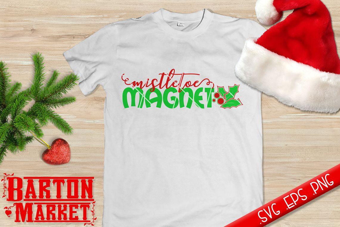 Mistletoe Magnet (v1) SVG / EPS / PNG example image