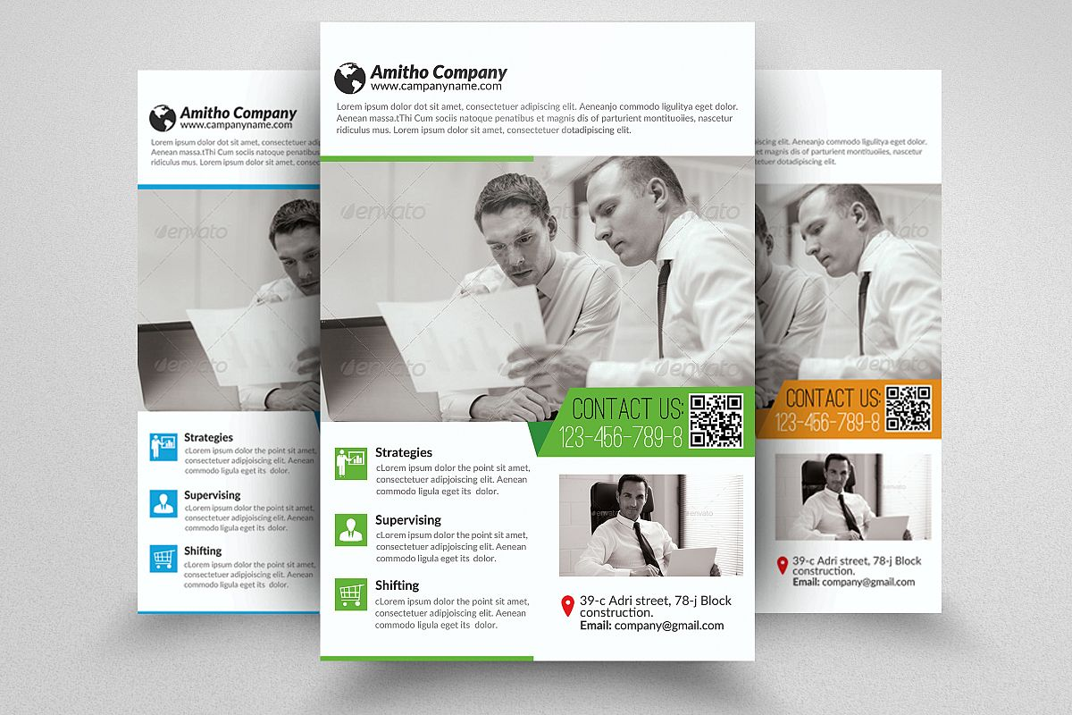 Business Flyers Templates by Designhub7 | Design Bundles