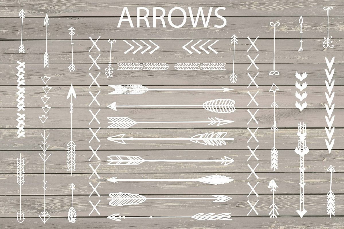 VECTOR Hand Drawn arrows clip arts example image