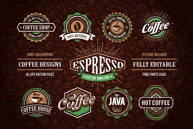 Retro Coffee Emblems #1 example image
