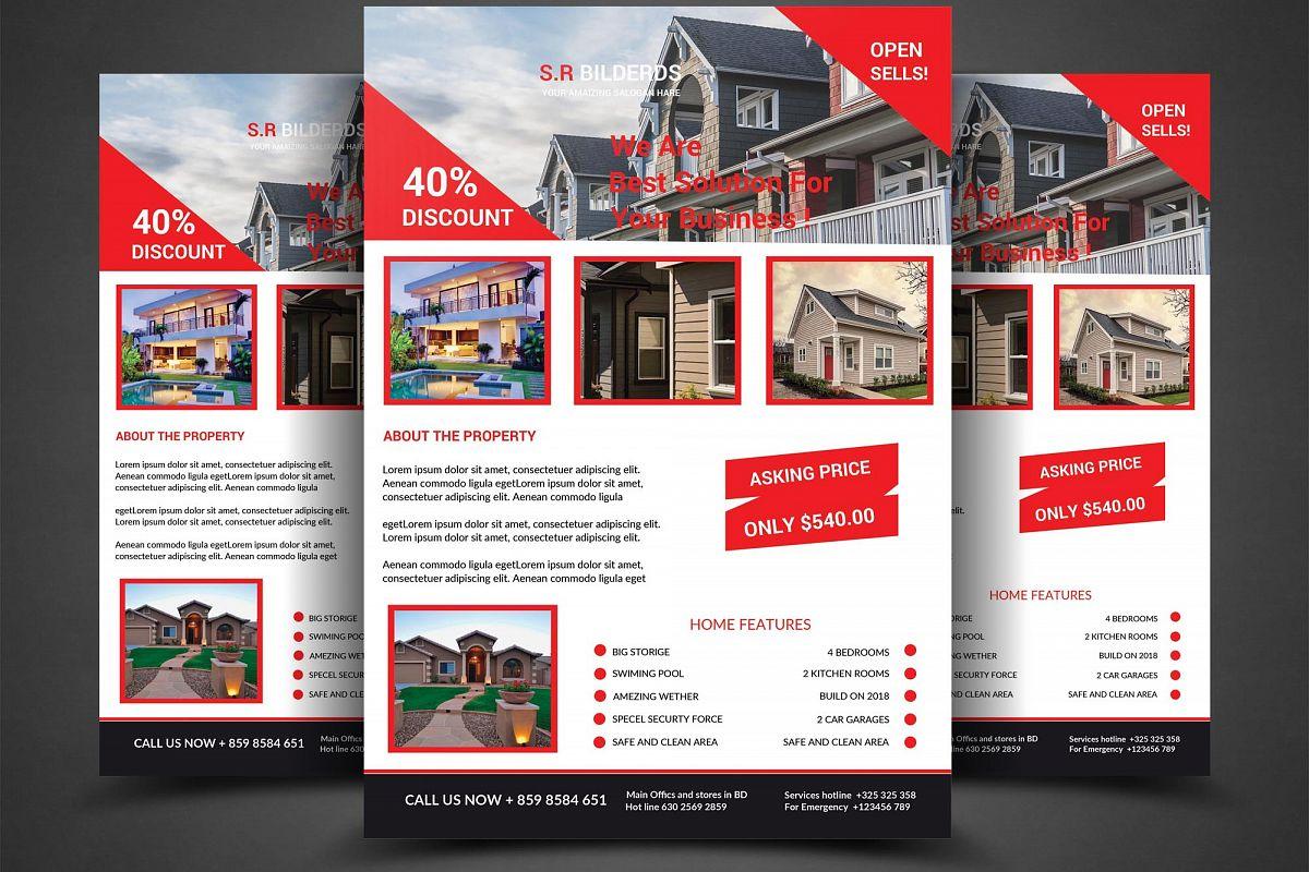 real estate flyer by sanaimran design bundles