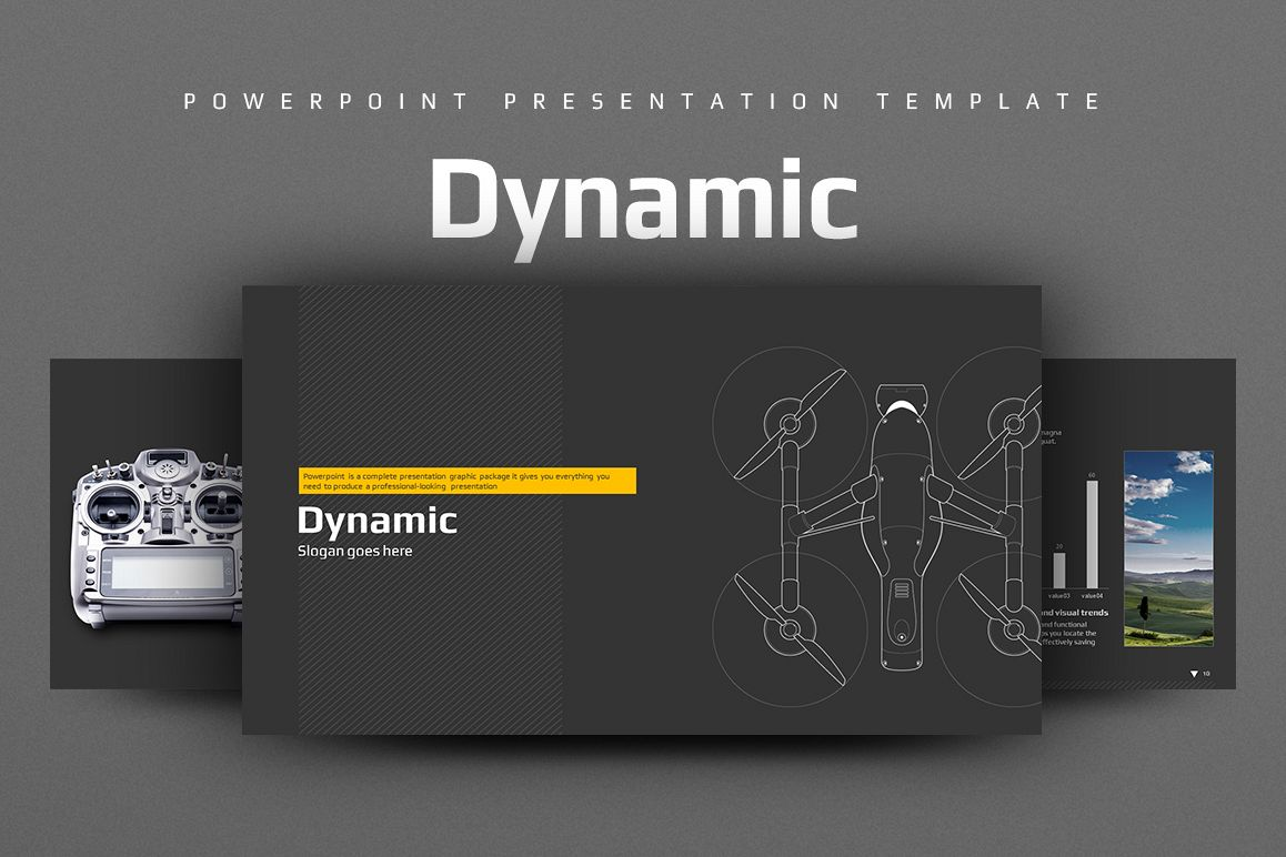 Drone PPT By GoodPello Design Bundles - Luxury how to create table of contents in powerpoint design