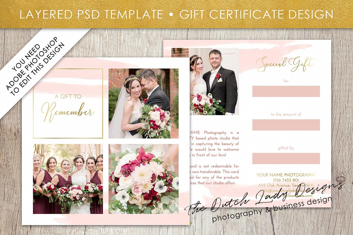 photo gift card template for adobe photoshop layered psd template design 40 example