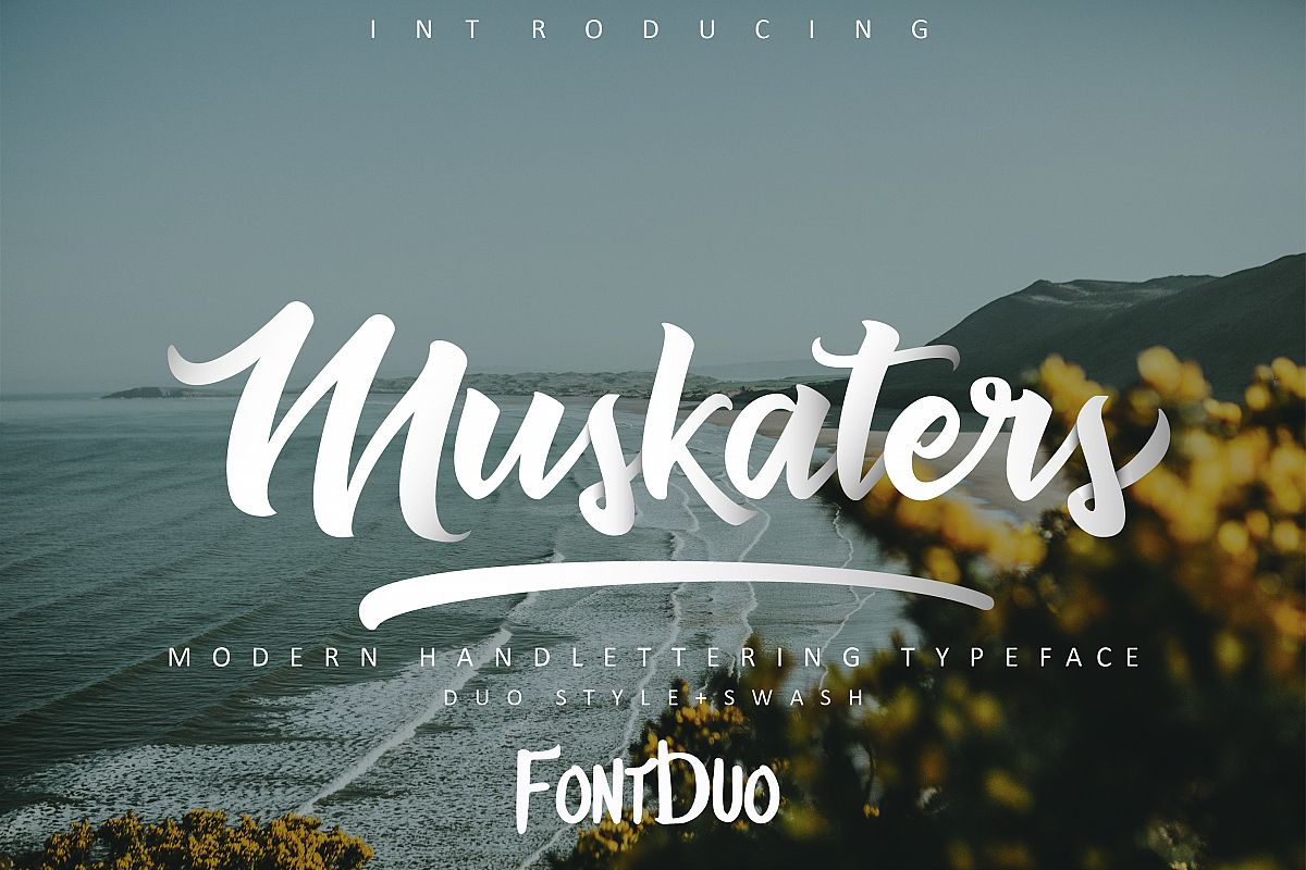 Muskaters. duo style + font bonus example image