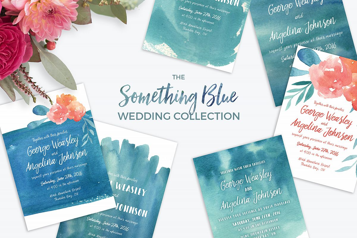 Stylish Leaves Wedding Suite by Knotted | Design Bundles