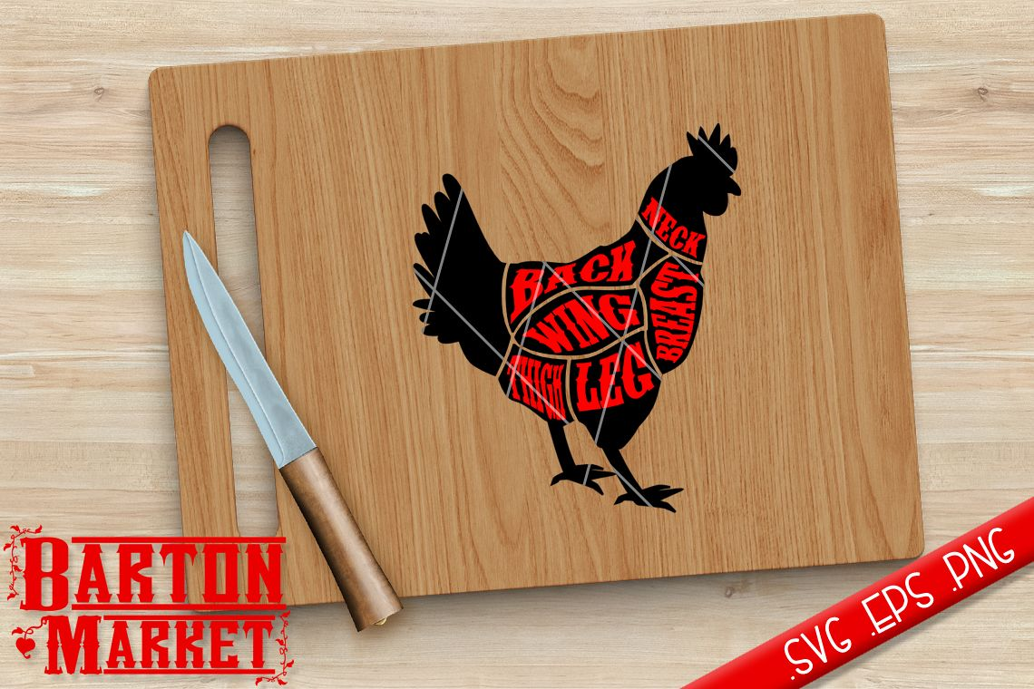 Chicken Butcher SVG / EPS / PNG example image