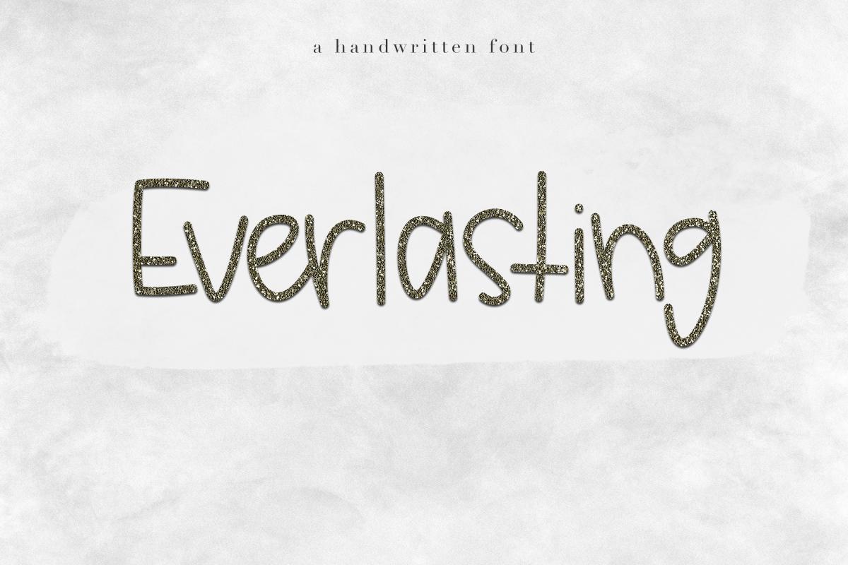Everlasting - Handwritten Font example image