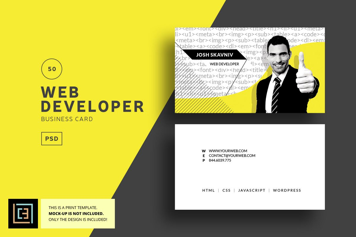 Web developer business card bc050 by design bundles web developer business card bc050 example image colourmoves
