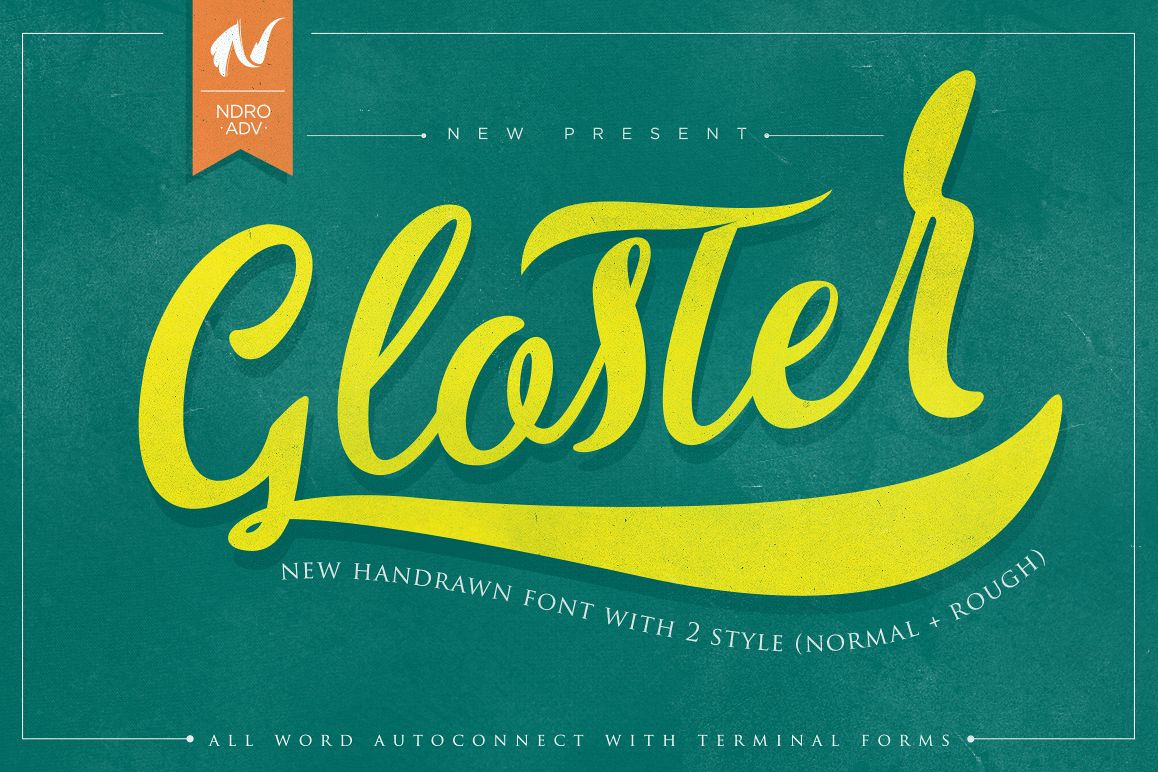 Gloster Typeface example image