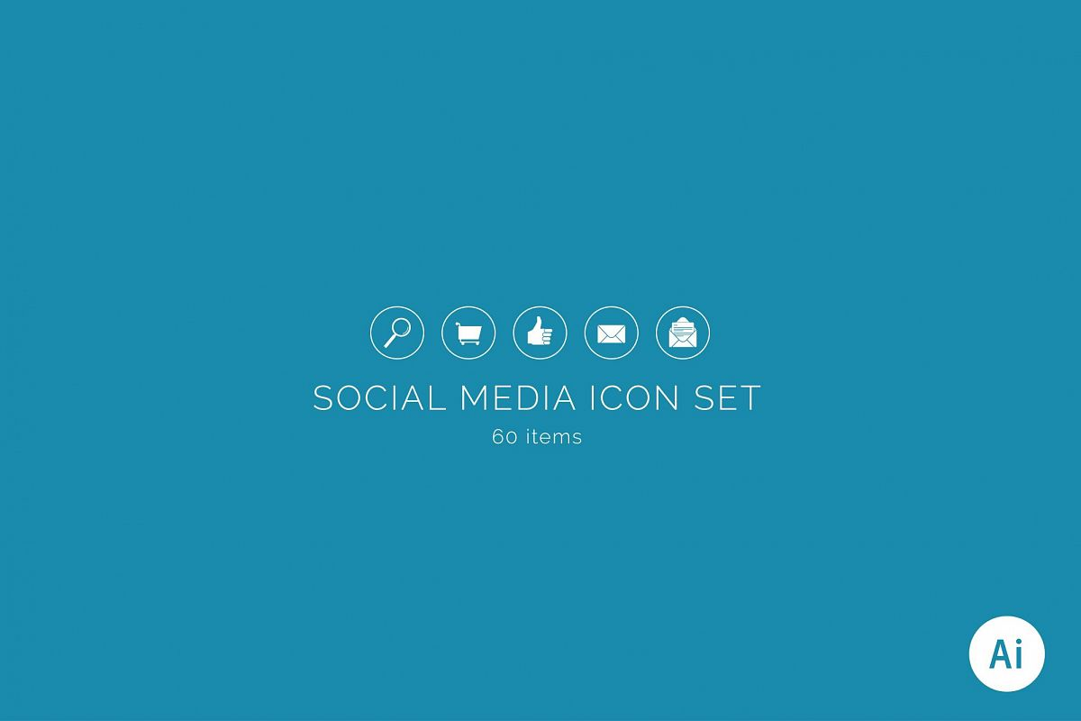 Social Media Icon Set example image