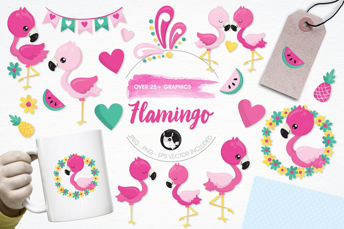 Flamingo graphics and illustrations example image