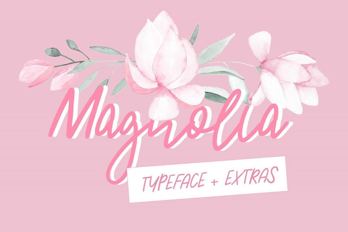 Magnolia Typeface example image