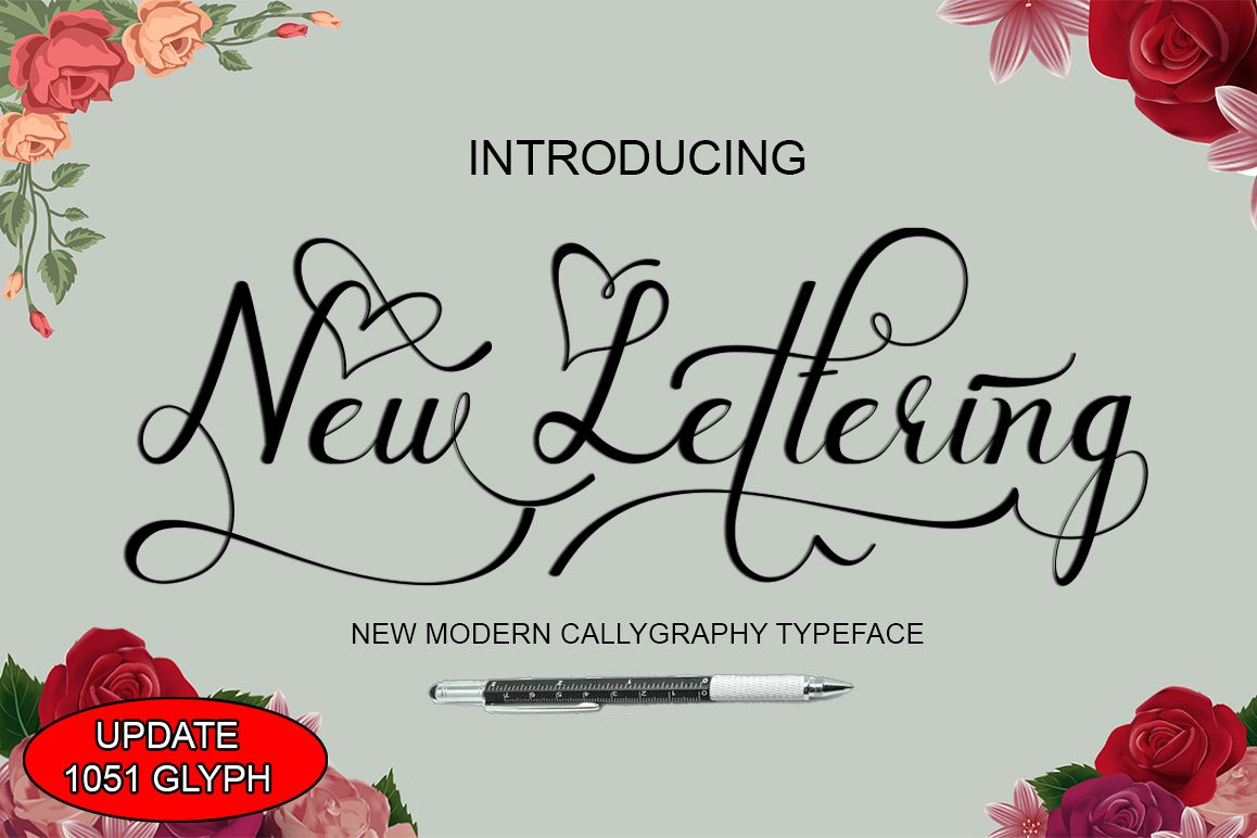 New lettering update example image
