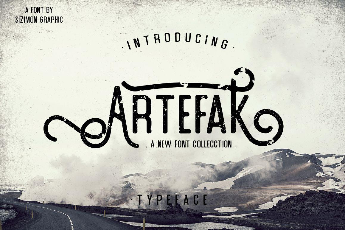 Artefak Typeface + Extras example image