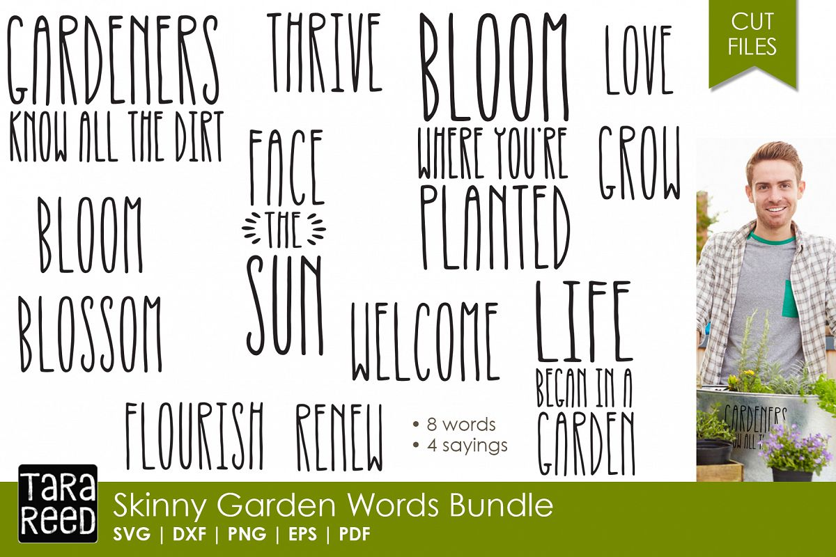 skinny letter garden words bundle example image - Letter Garden Game