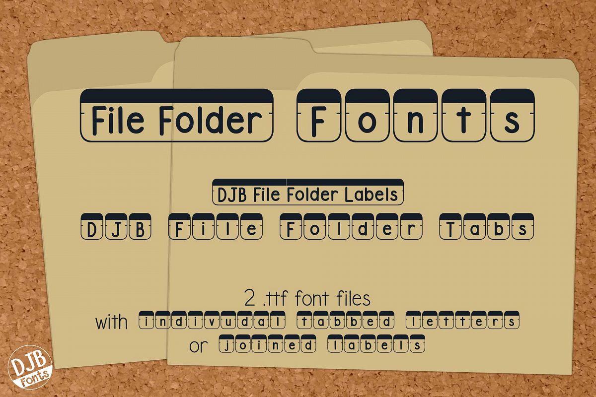 DJB File Folder Fonts example image