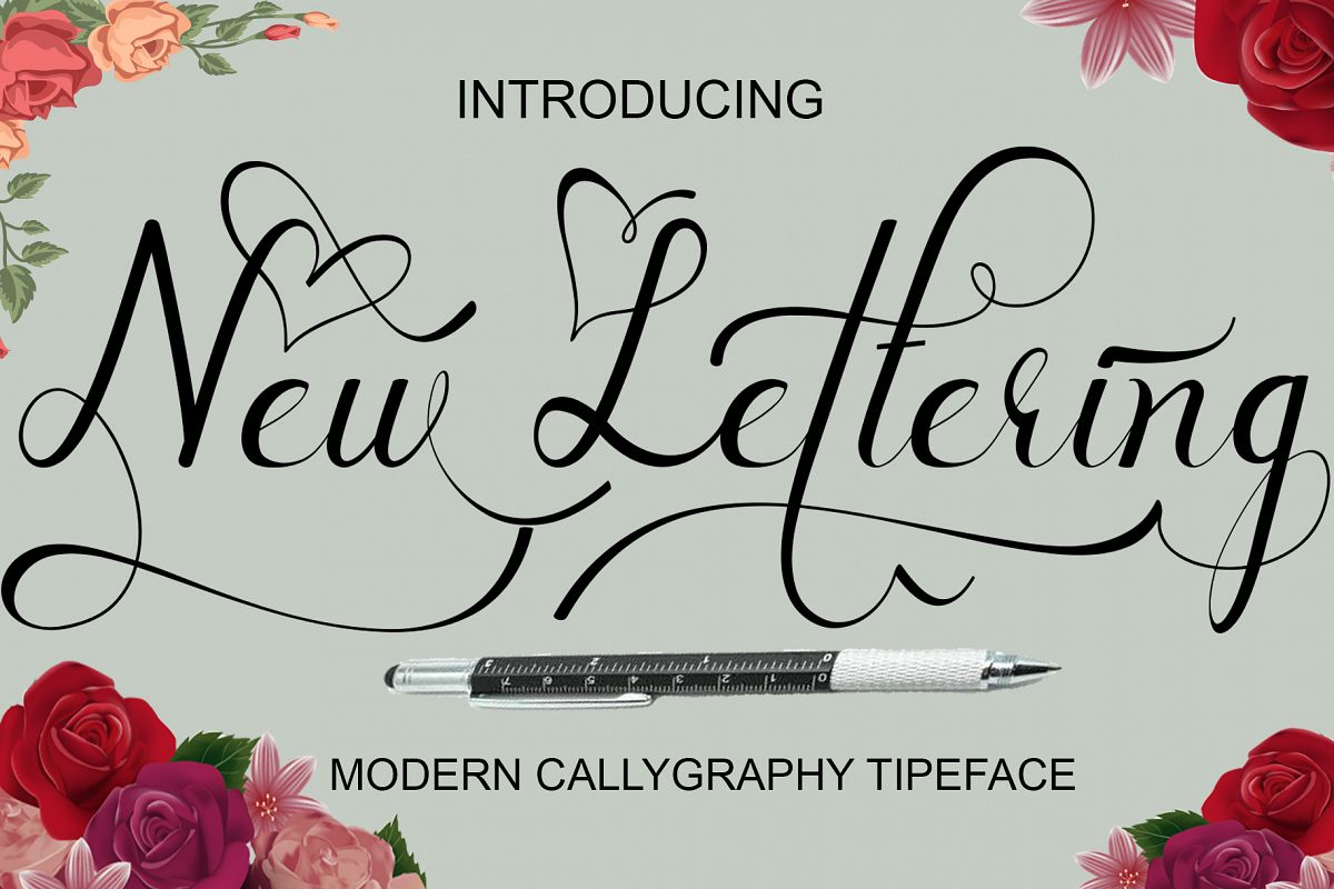 New lettering example image