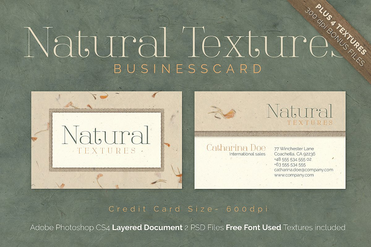 Natural texture business card by easy design bundles natural texture business card example image reheart Choice Image