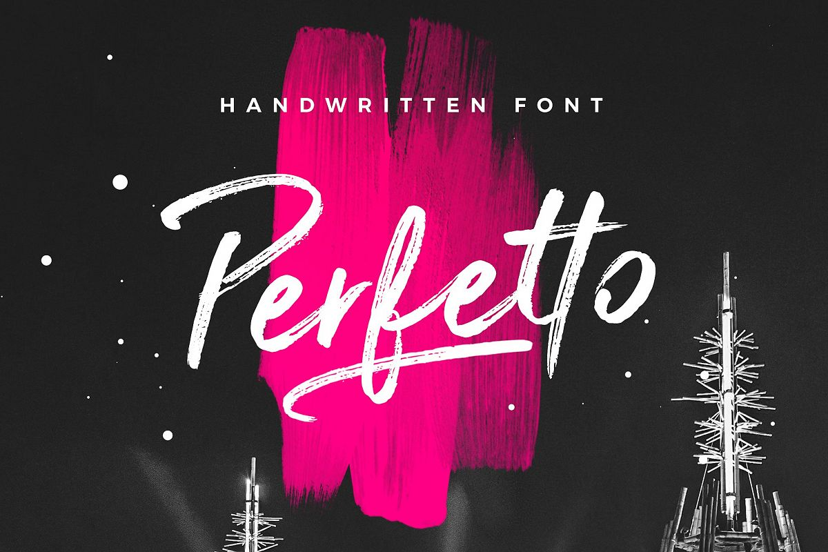 Perfetto Brush Font example image