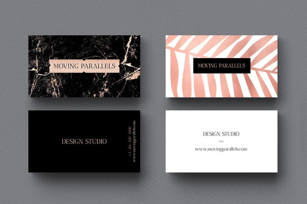 Rose Gold Marble Business Cards Bundle   Design Bundles