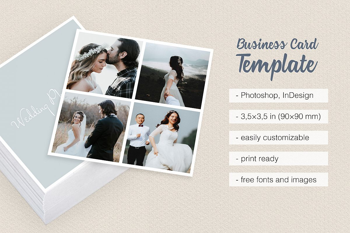 Square polaroid wedding photographer bu design bundles square polaroid wedding photographer business card example image reheart