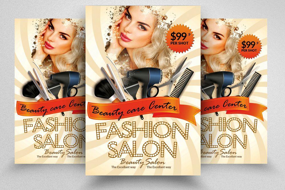 Spa Beauty Salon Flyer Template By De Design Bundles