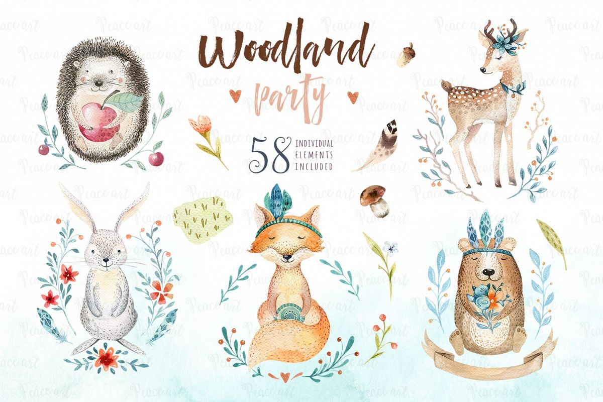 Woodland party I example image