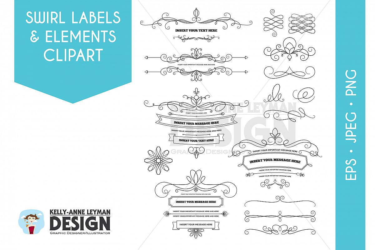 Diy invitation clipart digital labels design bundles diy invitation clipart digital labels clipart design elements flourish commercial use stopboris Image collections