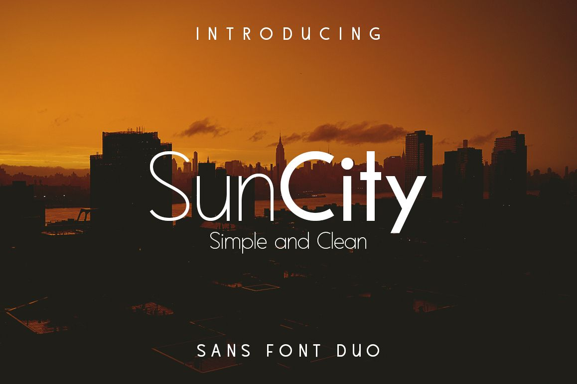 Sun City - Font Duo example image