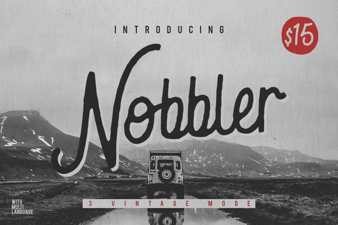 Nobbler Typeface example image
