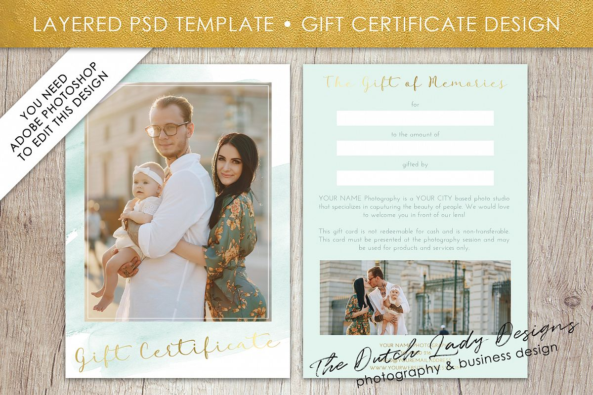 Photo gift card template for adobe phot design bundles photo gift card template for adobe photoshop layered psd template design 34 example yelopaper Gallery