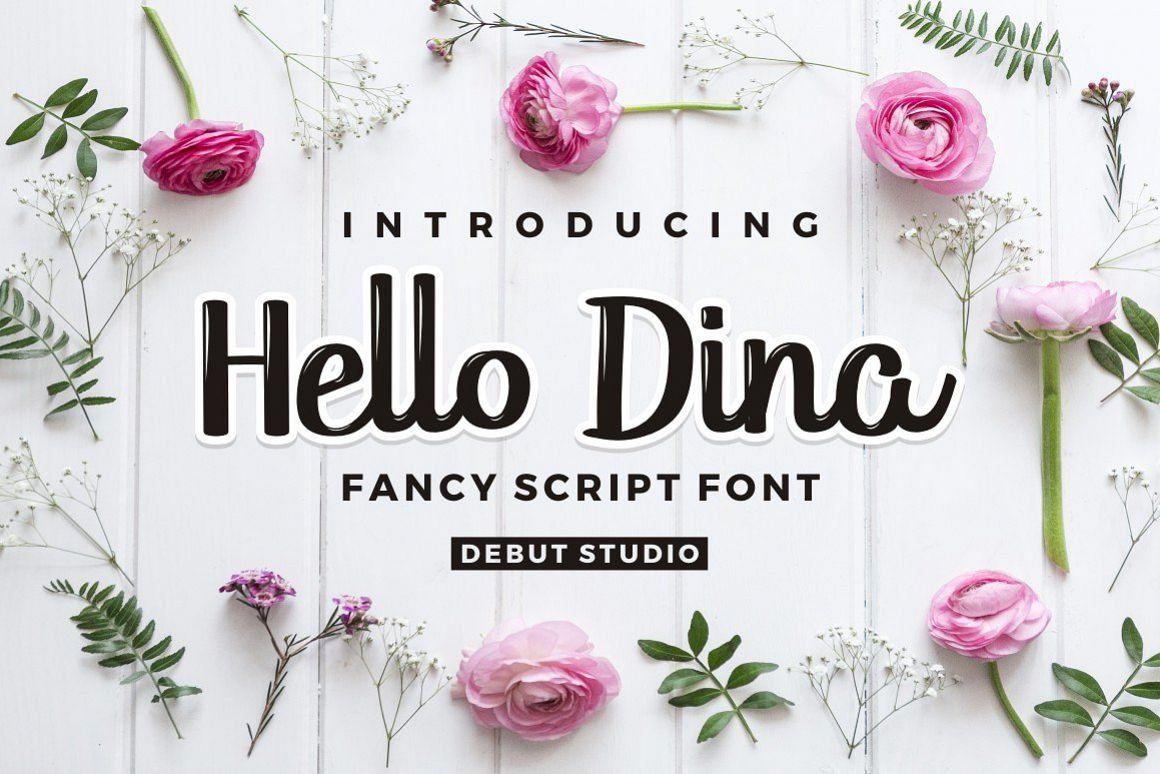 Hello Dina Script example image