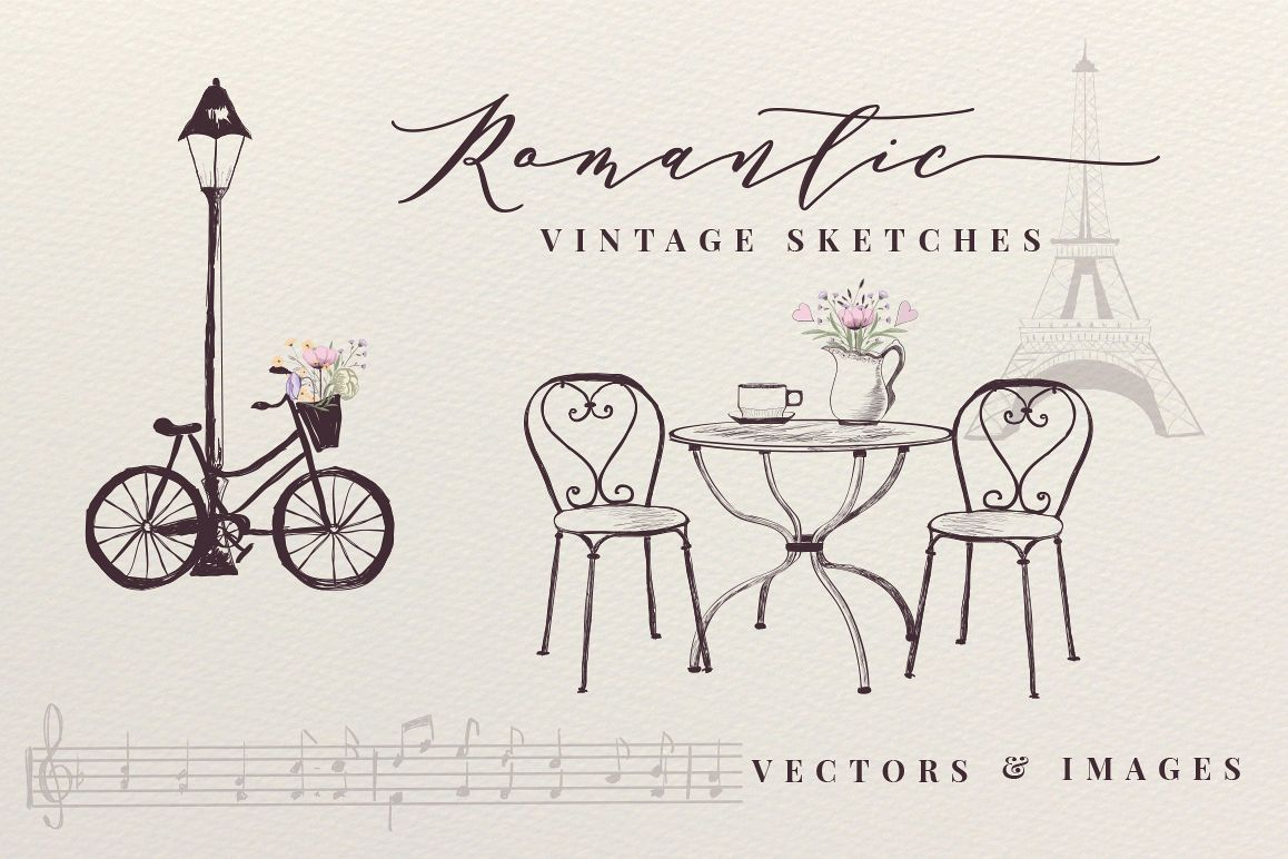 Romantic Vintage Sketches example image