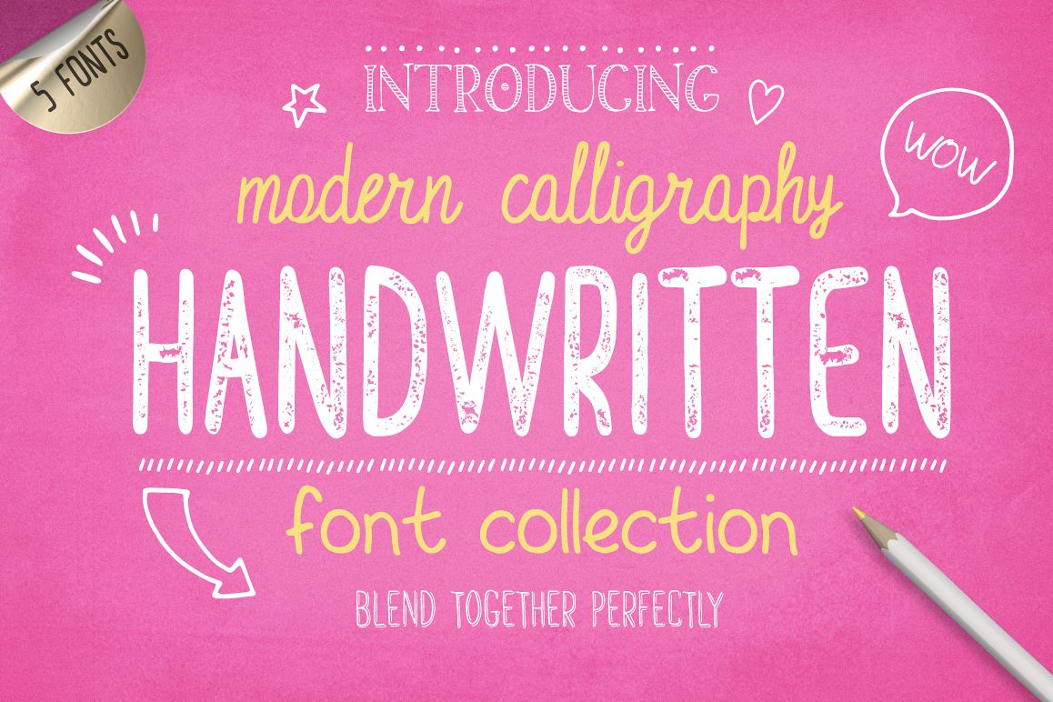 Handwritten Font Collection example image