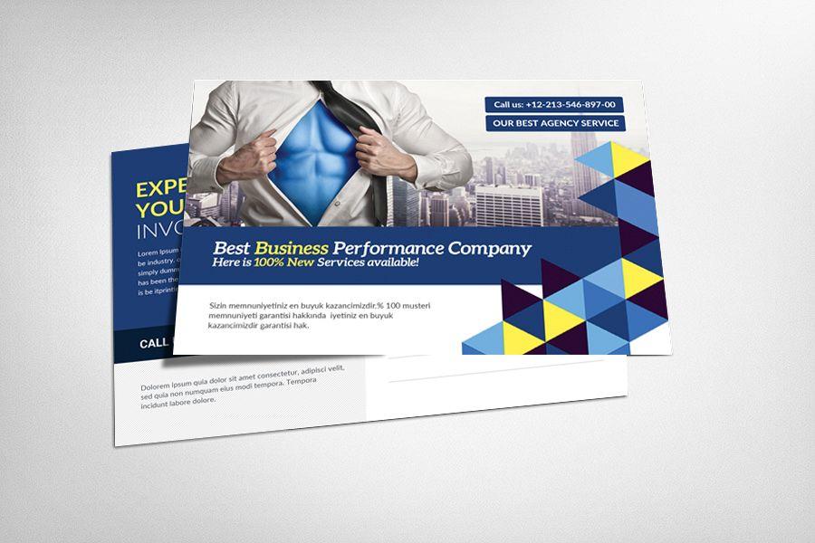 PostCard Design by Business Templates | Design Bundles