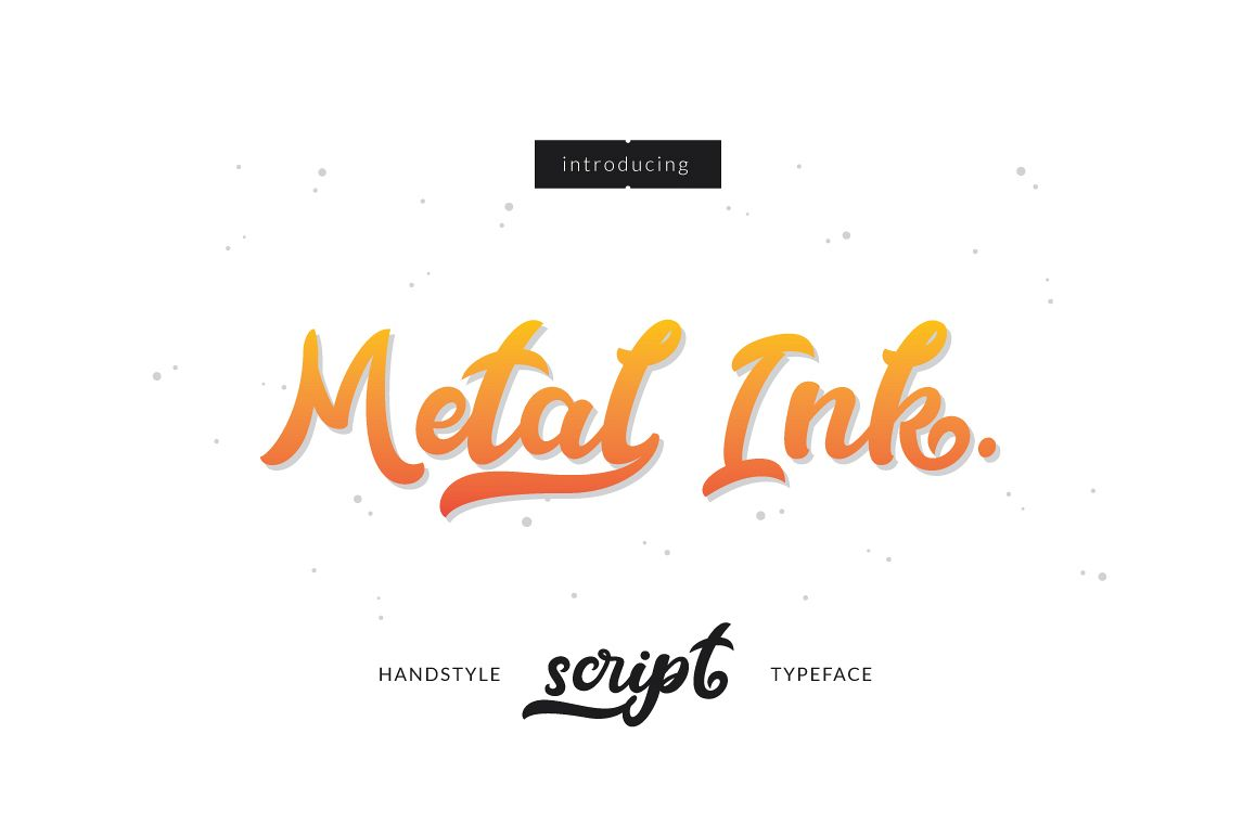 Metal Ink Typeface example image