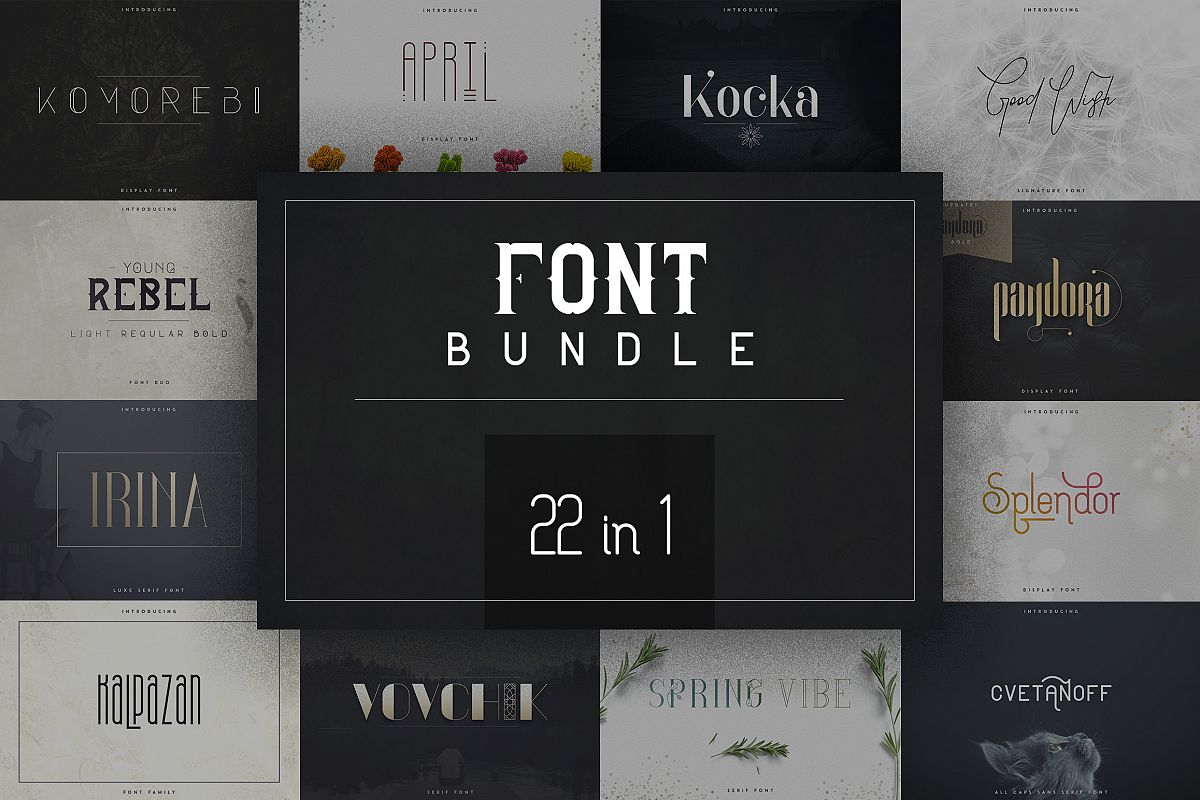 22in1 Legendary Font Bundle example image