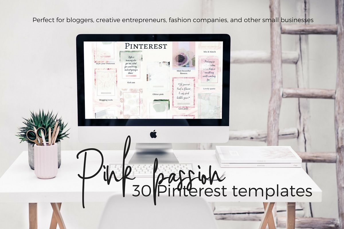 Pinterest templates- Pink passion example image