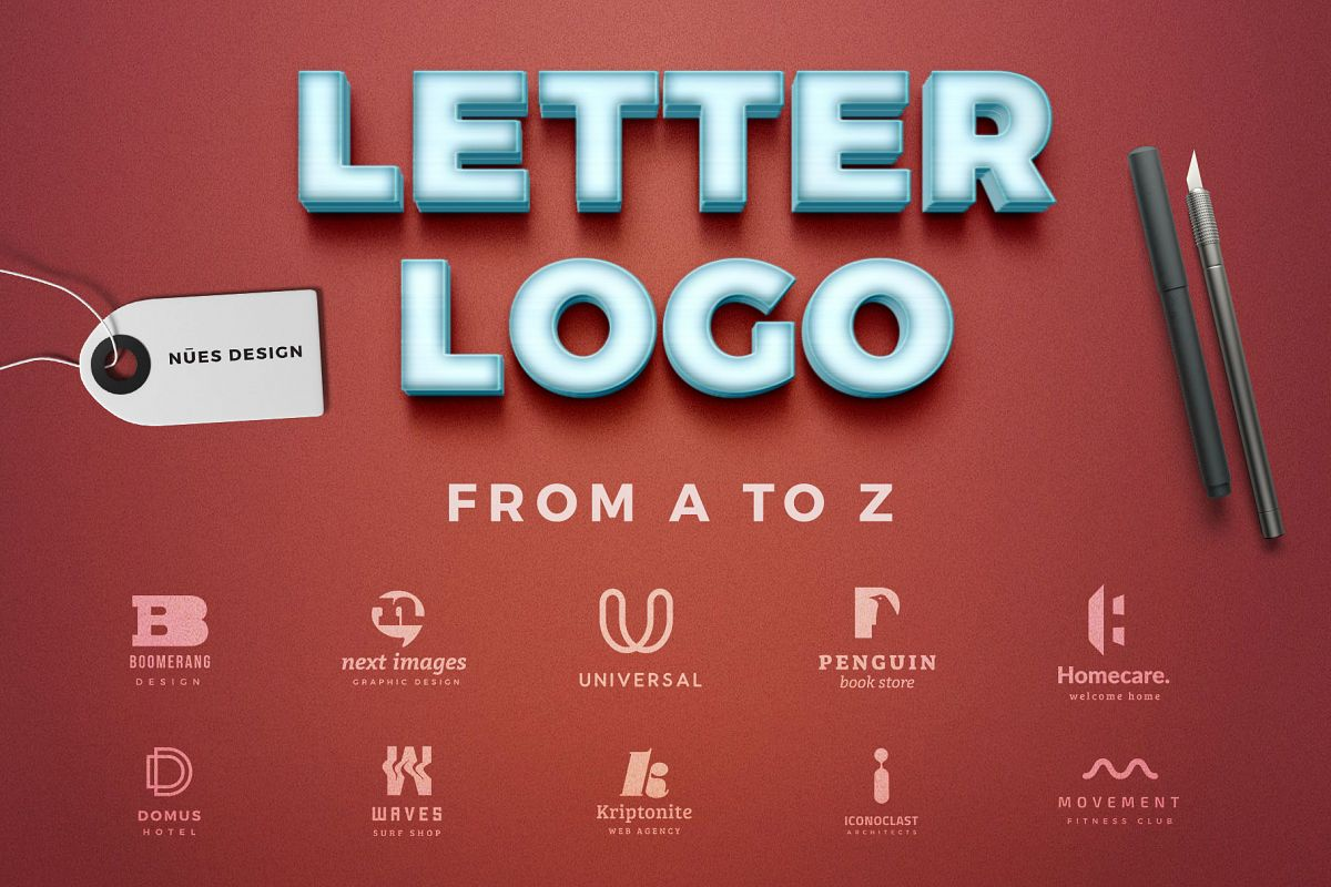 Letter logos template from a to z by nu design bundles letter logos template from a to z example image spiritdancerdesigns Gallery
