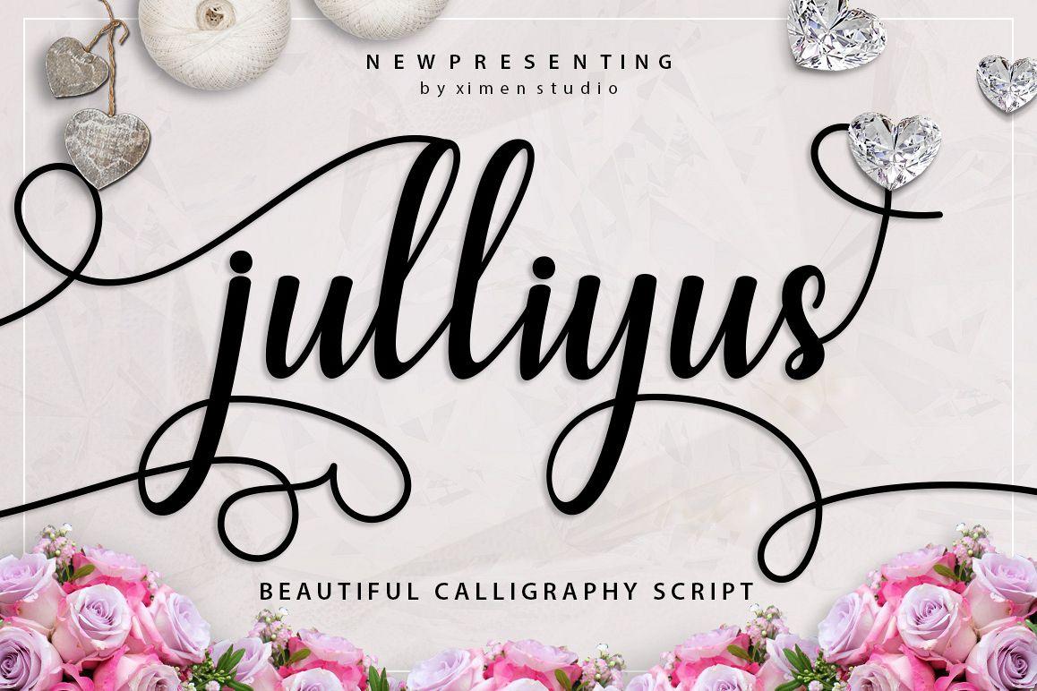 Julliyus Script example image