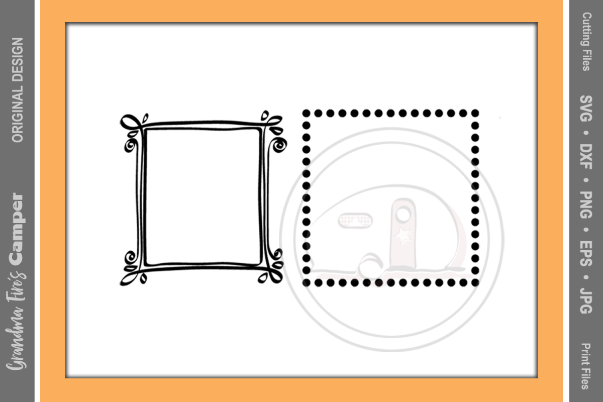 Frames SVG, Fun Craft Frames, Two Frame | Design Bundles