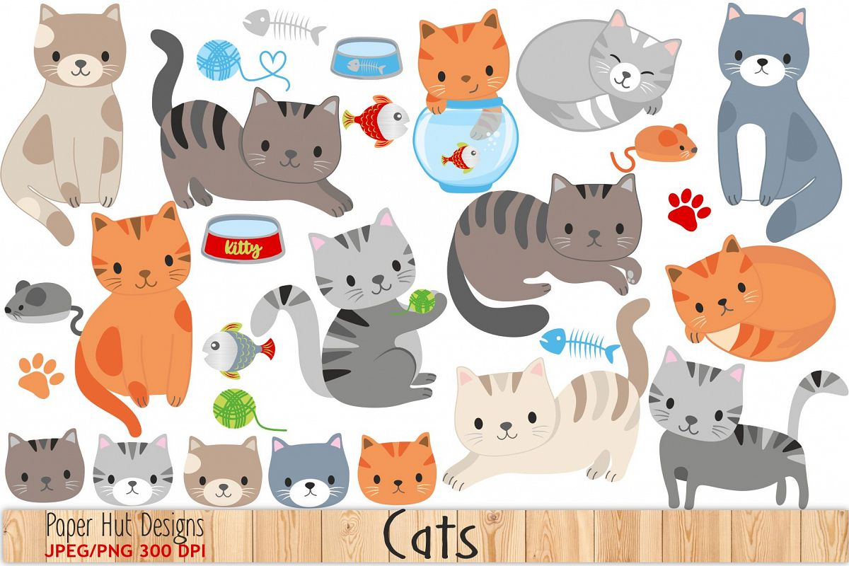 cute cat clipart by paperhutdesigns design bundles rh designbundles net cute cat clip art free cute cat clipart black and white