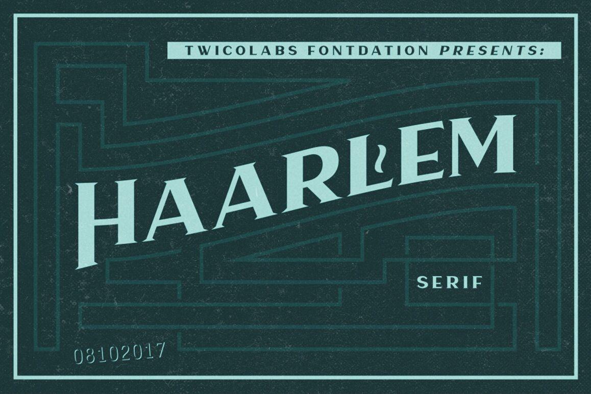 Haarlem Serif example image
